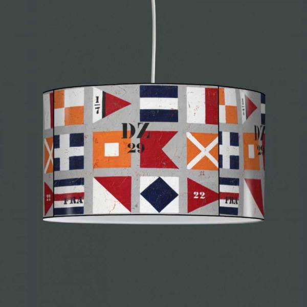 Luminaire à suspendre drapeaux nautiques