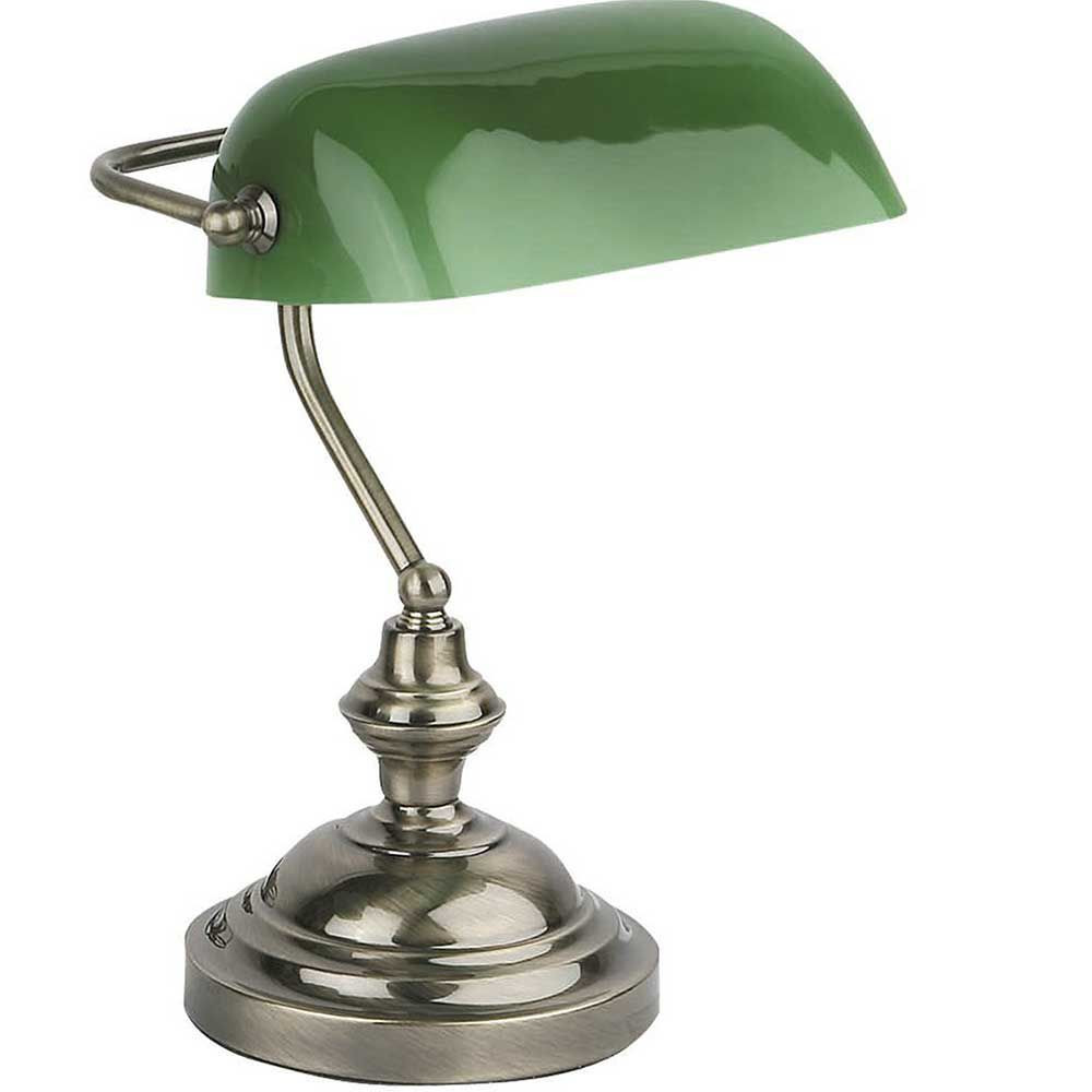 lampe banquier opaline verte pour bureau. Black Bedroom Furniture Sets. Home Design Ideas