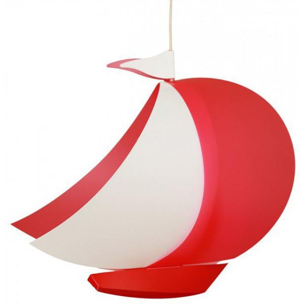 lampe bateau enfant rouge