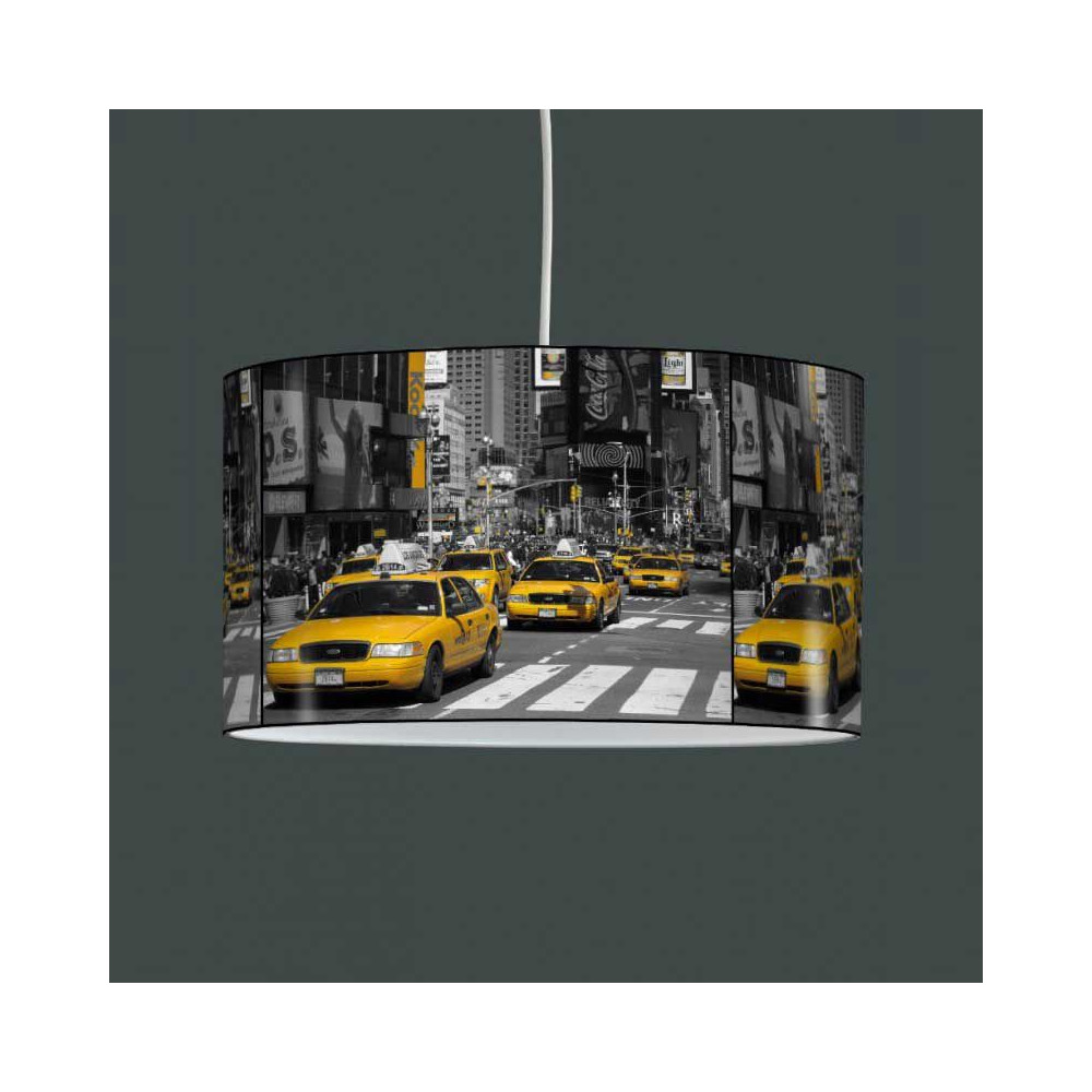 abat jour taxi jaune. Black Bedroom Furniture Sets. Home Design Ideas