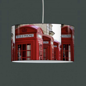 Lampe cabine telephone rouge
