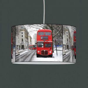 Luminaire Londres bus rouge