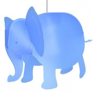 Lampe éléphant bleu