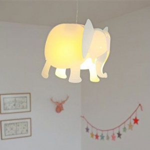 Luminaire enfant éléphant blanc