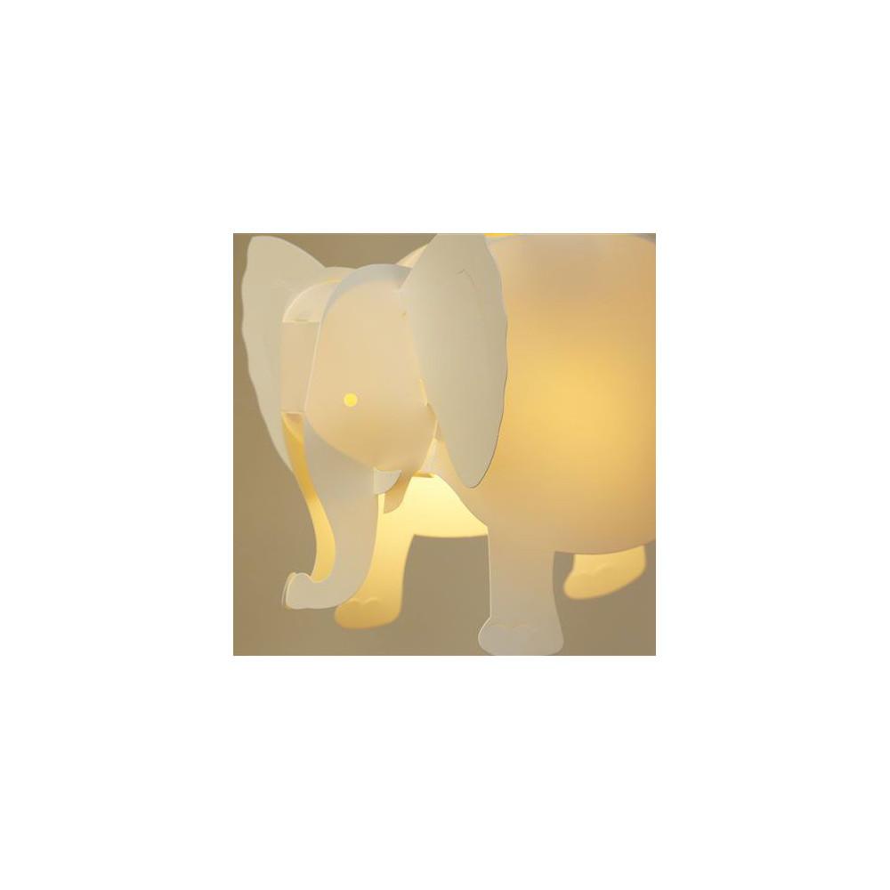 Luminaire suspension l phant blanc ivoire pour enfant for Luminaire suspension blanc