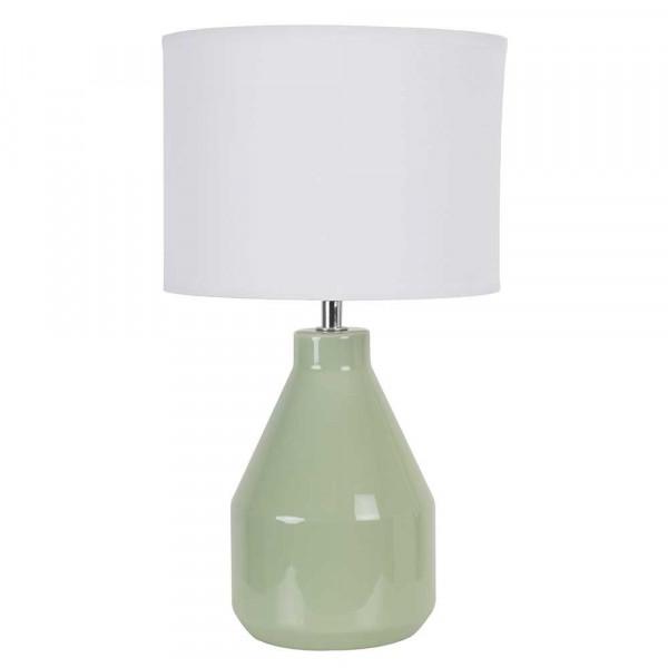 Petite lampe poser verte en c ramique brillante abat for Petite lampe exterieur