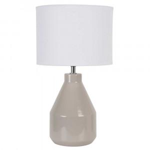 petite lampe taupe en céramique