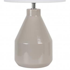 Lampe taupe en céramique