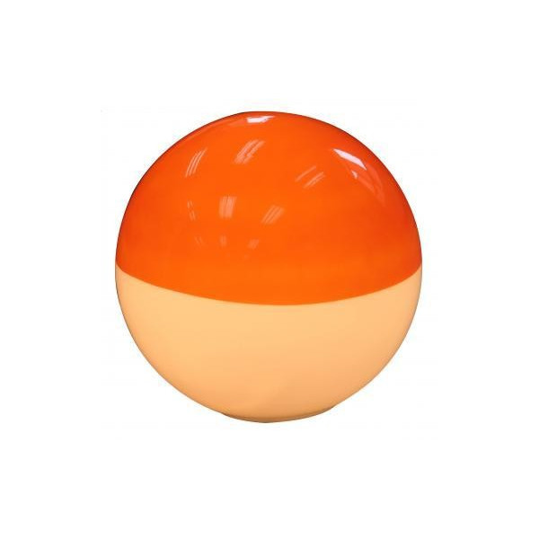 lampe vintage boule orange luminaire ann es 70. Black Bedroom Furniture Sets. Home Design Ideas