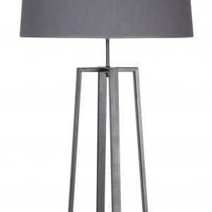 lampadaire en métal gris