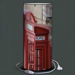 Lampe cabines téléphoniques rouges Londres