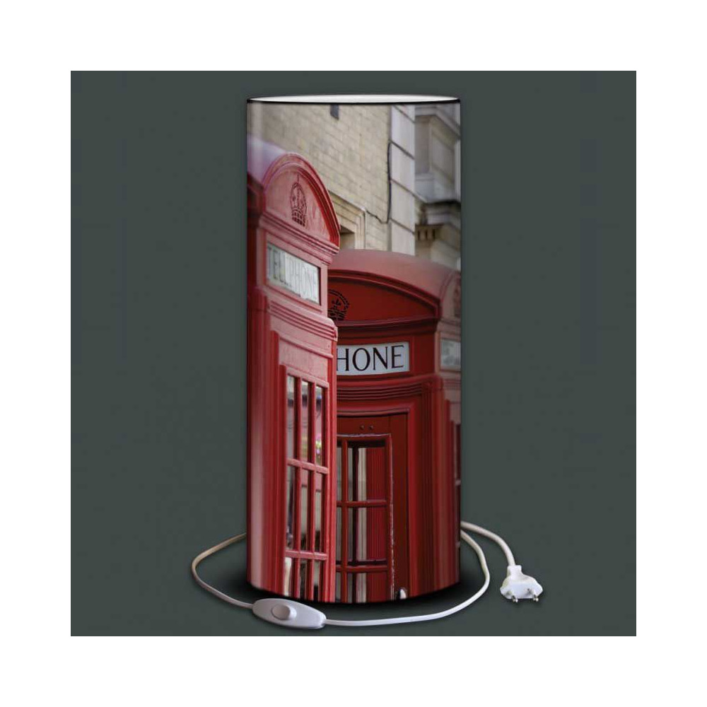 lampe cabine t l phone rouge londres angleterre. Black Bedroom Furniture Sets. Home Design Ideas