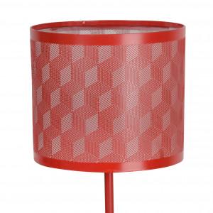 Lampe tactile design en métal rouge