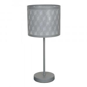 Lampe à poser moderne métal gris