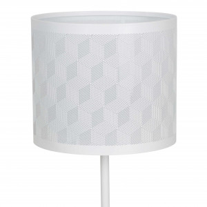 Lampe design en métal blanc