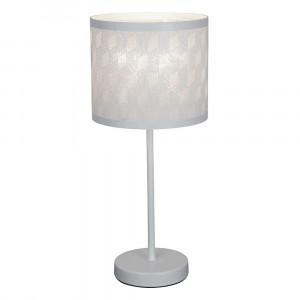 Lampe tactile blanche allumée