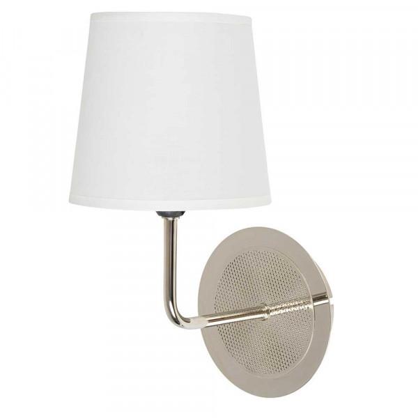 Applique blanche en m tal abat jour blanc conique en coton - Lampe cocktail scandinave ...