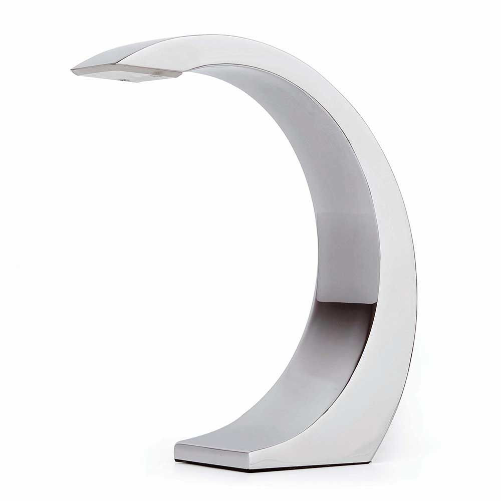 Lampe chrom e tactile led design - Lampe a poser tactile ...
