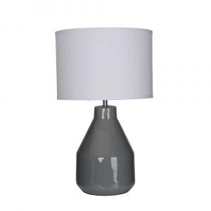 Lampe en céramique grise