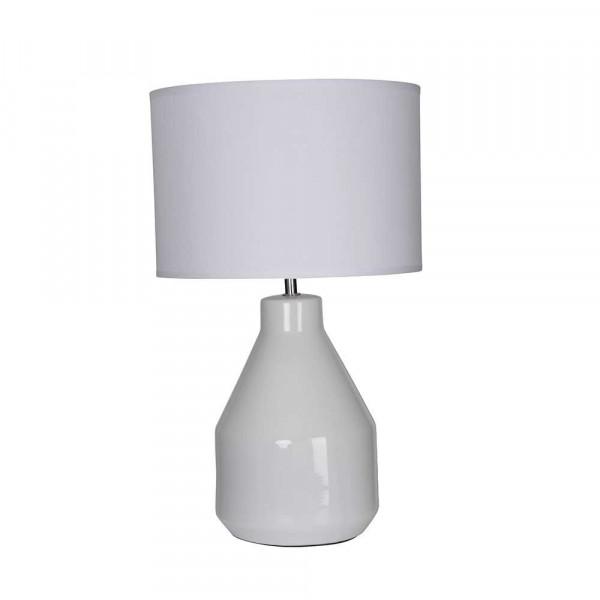Lampe en céramique blanche