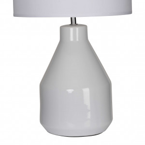 Lampe en céramique brillante blanche forme pot