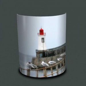 Applique murale phare et mouettes