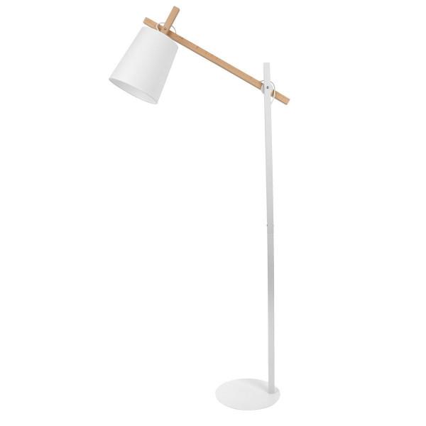 Lampadaire design bois métal