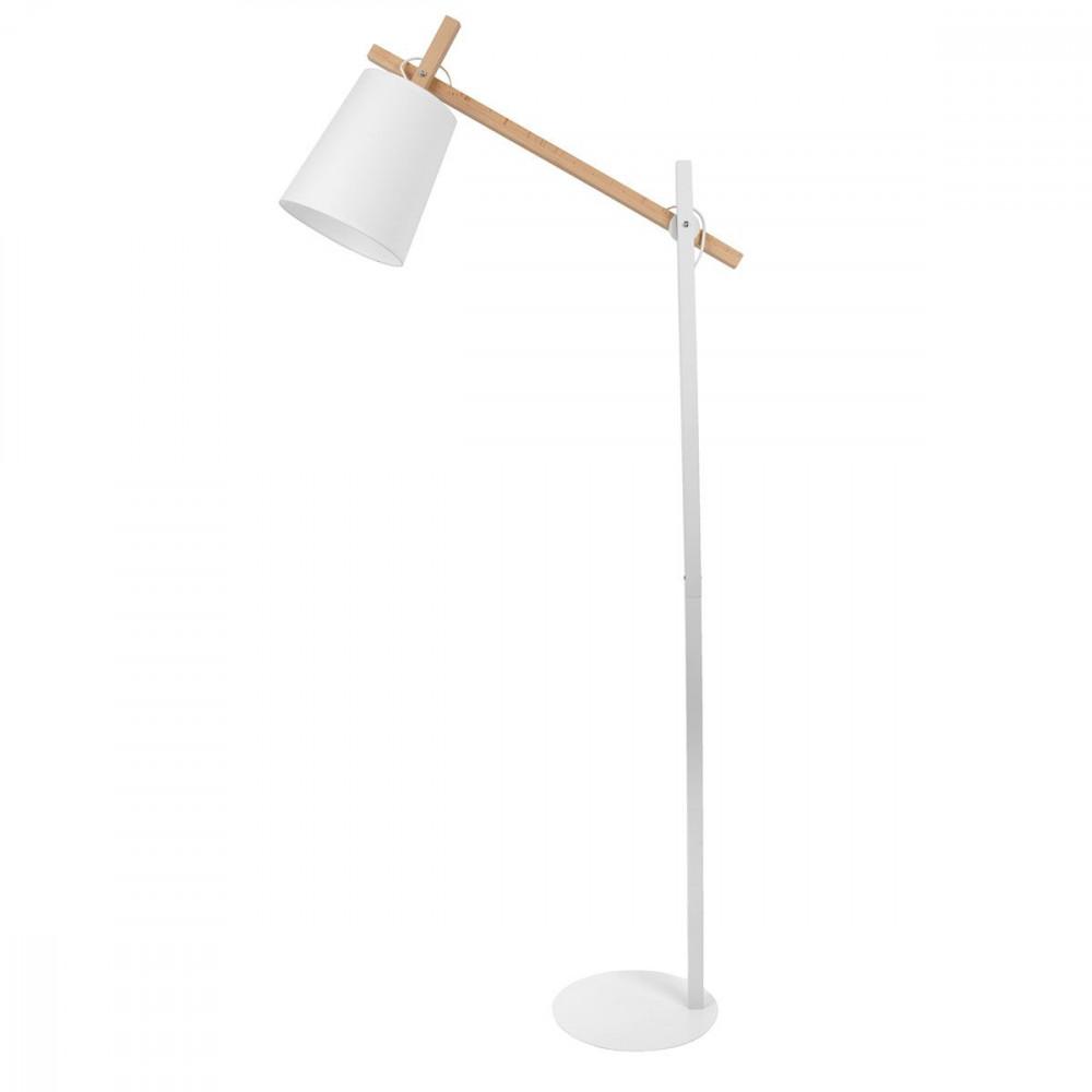 Lampadaire blanc en bois et métal # Lampadaire En Bois Design