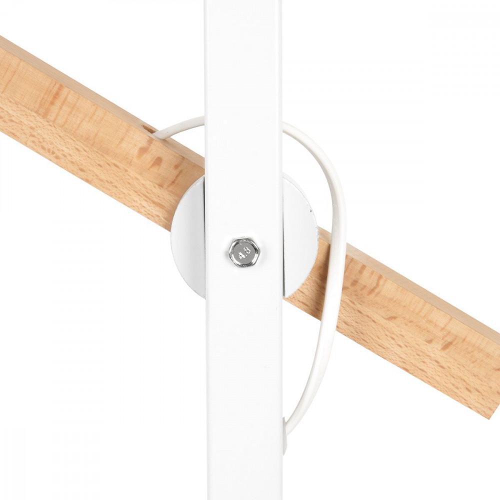 Lampadaire blanc en bois et m tal for Luminaire exterieur bois