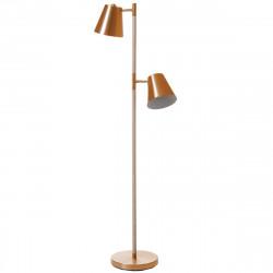 Lampadaire design métal cuivré et bois
