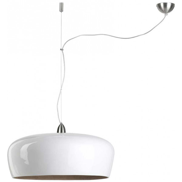 Suspension bambou tendance laqu e blanche for Suspension blanche design