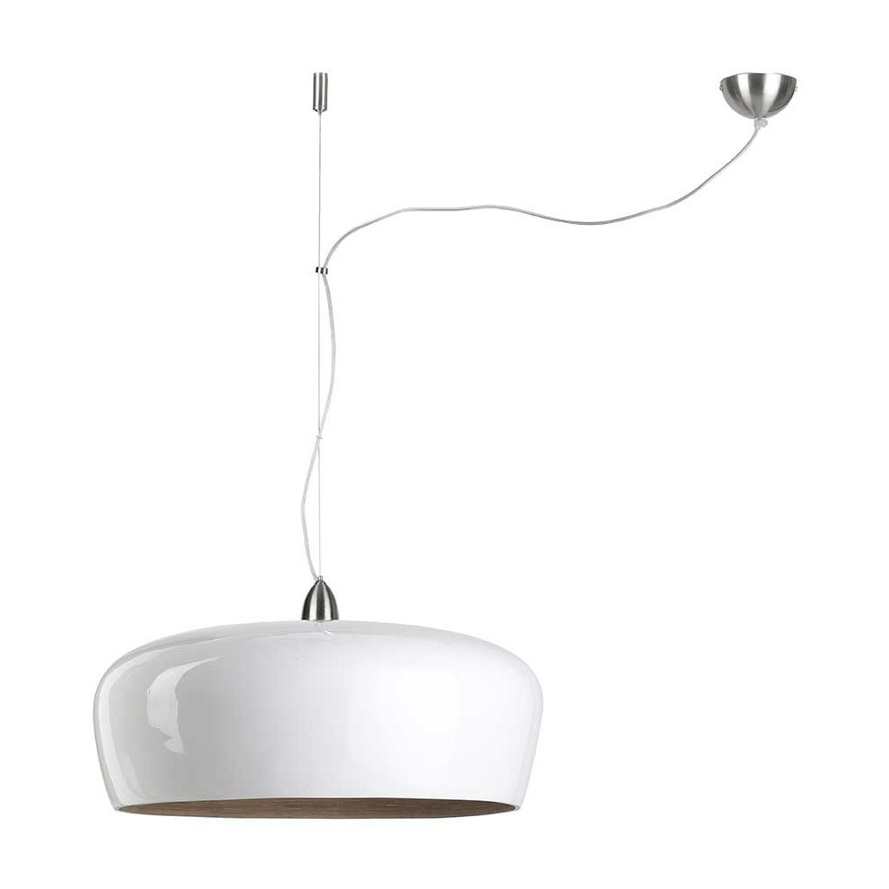 Suspension bambou tendance laqu e blanche for Luminaire suspension deportee