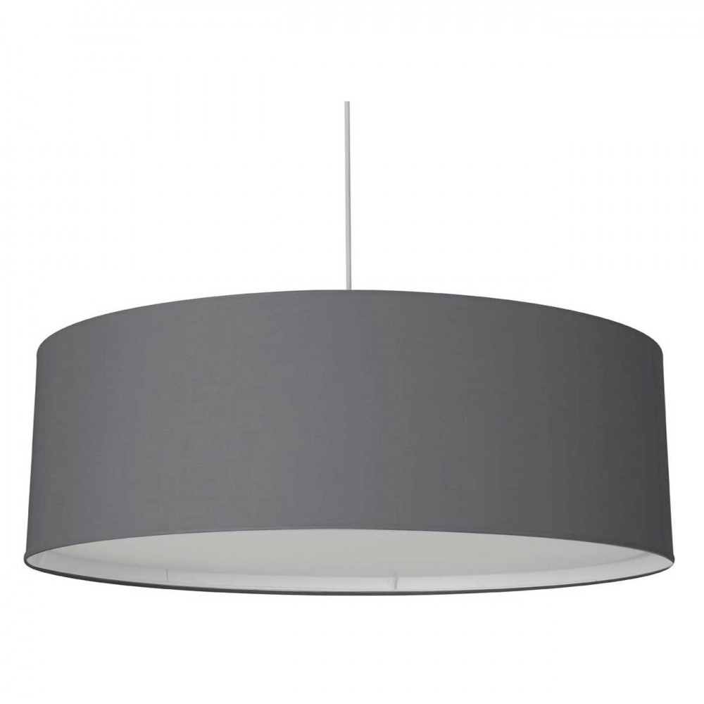 Tr s grande suspension xxl gris fonc avec diffuseur for Grande suspension luminaire