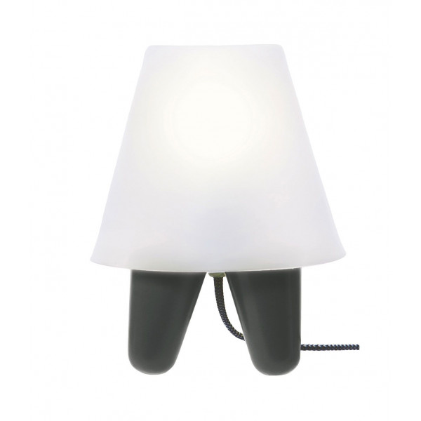 petite lampe design grise abat jour blanc. Black Bedroom Furniture Sets. Home Design Ideas