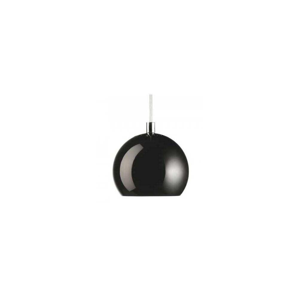 Suspension ball frandsen noir brillant for Lampe boule suspension