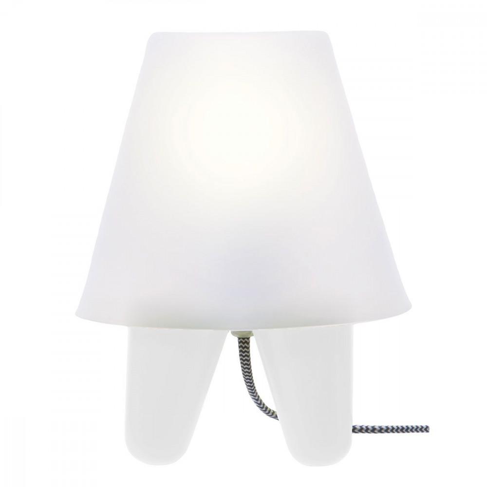 Lampe design blanche r tro for Lampe de chevet blanche