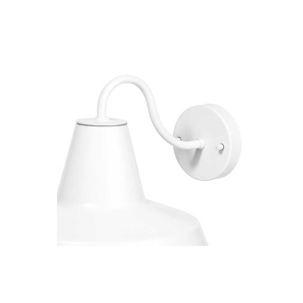 Applique ext rieure d co blanche for Lampe applique exterieur