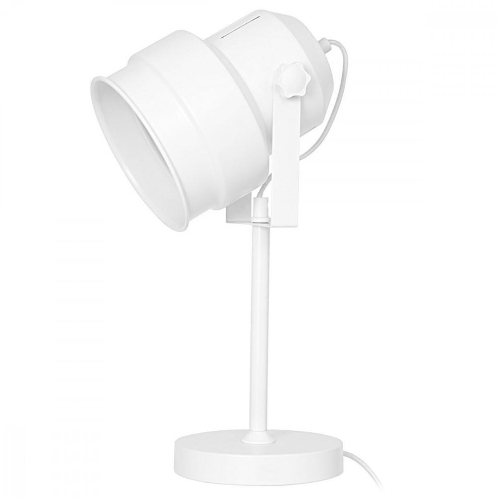Lampe de sol blanche ambiance studio for Lampe spot exterieur