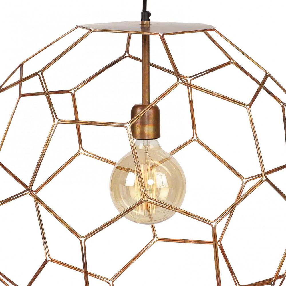 suspension cuivre geometrique  design