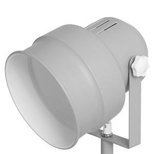 Lampadaire projecteur gris