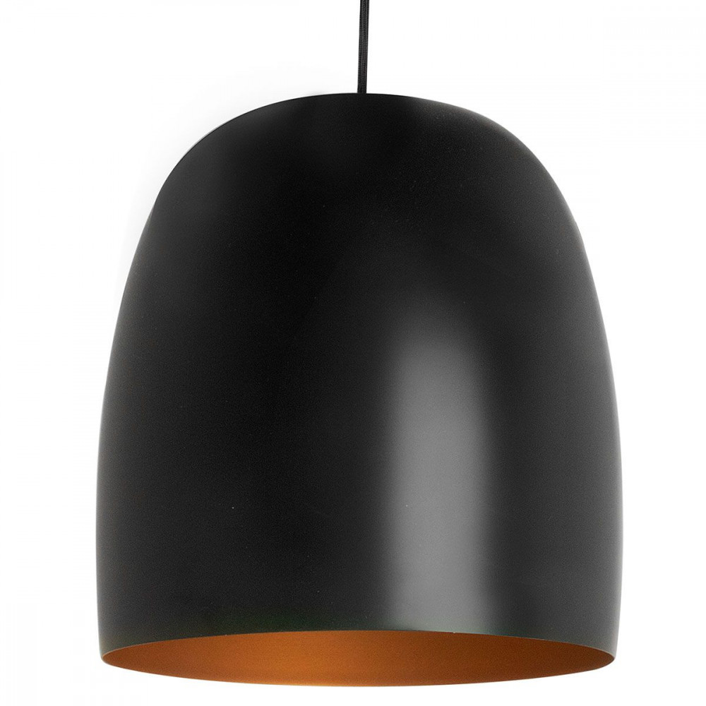 Suspension design noire et or for Suspension luminaire noir et or