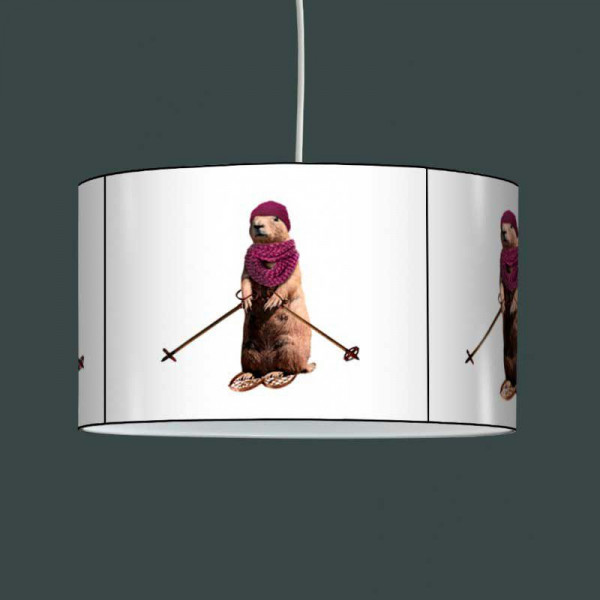 suspension luminaire montagne marmotte ski. Black Bedroom Furniture Sets. Home Design Ideas