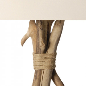 Luminaire bois flotté et chanvre