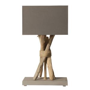 Lampe grise bois flotté