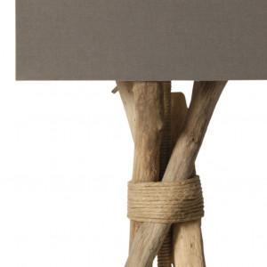 Lampe design en bois flotté