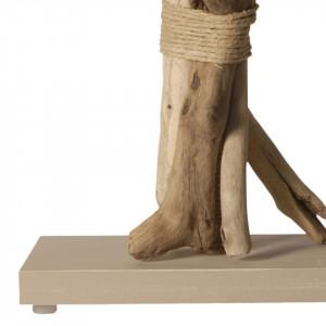 Lampe design en bois flotté et cordage