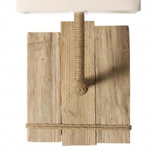 Applique blanche carrée en bois