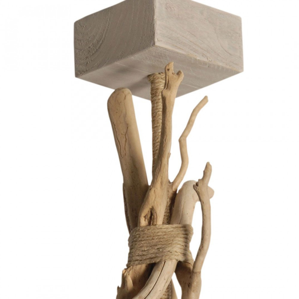 Suspension salon ou chambre en bois flotté