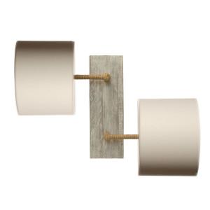 applique blanche bois et tissu