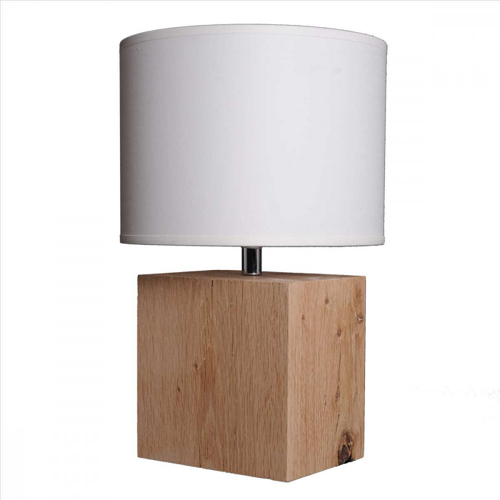 Lampe de chevet nature for Lampe design en bois